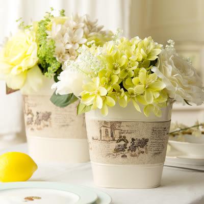 模擬花假花 套裝 花藝 客廳餐桌 裝飾花 花瓶花束 -bri01075