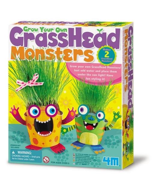 【4M】04650 美勞創意-草頭怪獸 Grass Head Growing Kit