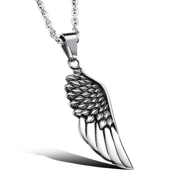 EDJ銀飾店-天使翅膀鈦鋼項鍊(7886)