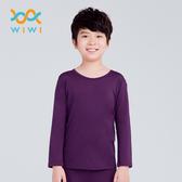 【WIWI】MIT溫灸刷毛圓領發熱衣(羅蘭紫 童70-150)