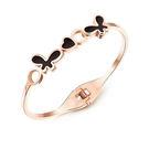 【5折超值價】 【316L西德鈦鋼】最新款時尚精美蝴蝶愛心造型女款鈦鋼手環