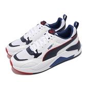 Puma 休閒鞋 X-Ray 2 Square 白 藍 紅 復古 男鞋 運動鞋 基本款 【ACS】 37310819