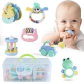 (一件免運)手搖鈴嬰兒芽膠手搖鈴玩具0-1歲寶寶益智嬰幼兒3-6-12個月禮盒裝