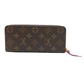 【台中米蘭站】全新品 Louis Vuitton Clemence系列 Monogram帆布拉鍊長夾(M60742-紫紅)