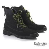 ★2019秋冬★Keeley Ann極簡魅力 英倫牛磨砂輕量登山靴(黑色) -Ann系列