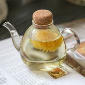 軟木塞壺家用玻璃茶壺耐高溫加厚泡茶壺功夫紅茶過濾耐熱玻璃水壺【快速出貨八折優惠】