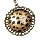 【A+ accessories】野性的傳說 豹紋復古長版鍊