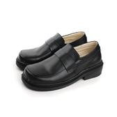 學生皮鞋 黑色 真皮 女鞋 no001