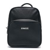 KANGOL 黑色 皮革 後背包 小包  (布魯克林) 6955320420
