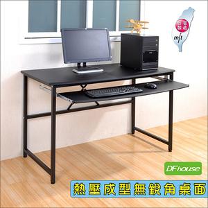 《DFhouse》艾力克多功能電腦桌-120CM寬大桌面-2色黑色
