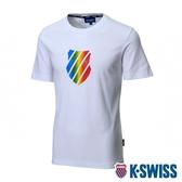 K-SWISS Neon Shield Logo Tee印花短袖T恤-女-白