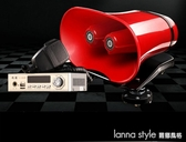 12V擴音器喇叭戶外地攤叫賣喊話器車載宣傳大功率錄音播放器車頂  YDL  LannaS