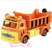 〔小禮堂〕迪士尼 跳跳虎 TOMICA小汽車《橘.載土車.DM-09》經典造型值得收藏 4904810-84038