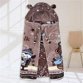 嬰兒披風寶寶披風加厚保暖毛毯嬰兒斗篷秋冬季披肩兒童加絨雙層包被外出服 小天使