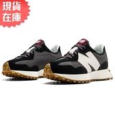 【現貨】New Balance 327 女鞋 慢跑 休閒 復古 拼接 皮革 黑【運動世界】WS327KC