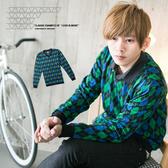 柒零年代For Now【N8390J】韓系英倫雅痞學院風格菱格紋小V領針織上衣(8097)