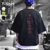 【YIJIAYI】高磅數 太空棉 印花 五分袖 寬鬆 短T (K廠)(KCE0682)