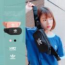 IMPACT Adidas Originals Essential 黑 粉 休閒 三葉草 斜背包 腰包 DV2400 DV2401