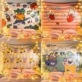 卡通掛布背景布兒童房間直播布置裝飾墻布掛毯【慢客生活】