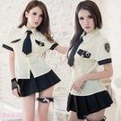 制服 女警 教官 襯衫上衣黑色短裙角色扮演套裝-愛衣朵拉