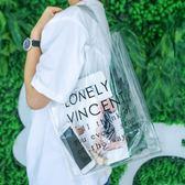 透明包 環保袋 購物袋 果凍包 手提袋 防水包 買菜 購物 時尚配件 個性透明包✭慢思行✭【A24】