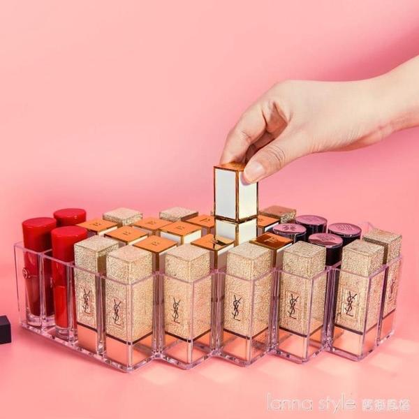 網紅同款口紅收納盒透明壓克力放唇膏唇釉置物架多格展示整理架子 新品全館85折