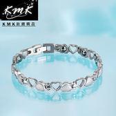 【KMK鈦鍺精品】心連心(純鈦+磁鍺健康手鍊)