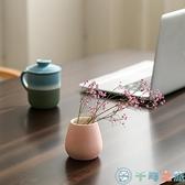 水培現代客廳家居裝飾品擺件陶瓷小花瓶干花插花器【千尋之旅】