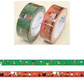 Shinzi Katoh 加藤真治 聖誕主題15mm紙膠帶組-聖誕樹(一組2捲入)★funbox生活用品★_ZI02431