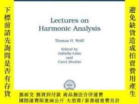二手書博民逛書店Lectures罕見On Harmonic Analysis (university Lecture Series