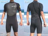 Man日本heleiWaho 3mm超彈潛水衣連身短袖防寒衣/游泳衣/衝浪衣/禦寒保暖 浮潛 SUP划水現貨