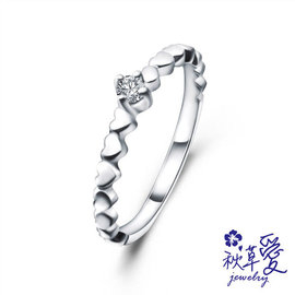 《 SilverFly銀火蟲銀飾 》純銀真鑽尾戒-「心連心」秋草愛