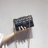 手機包手機包女2020潮韓版時尚百搭小包包菱格鍊條包迷你側背斜背包[七月精品] 春季上新
