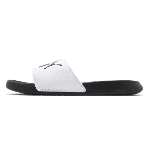 Puma 拖鞋 Popcat 黑 白 LOGO 運動拖鞋 涼鞋 基本款 男鞋 女鞋 【PUMP306】 36026501
