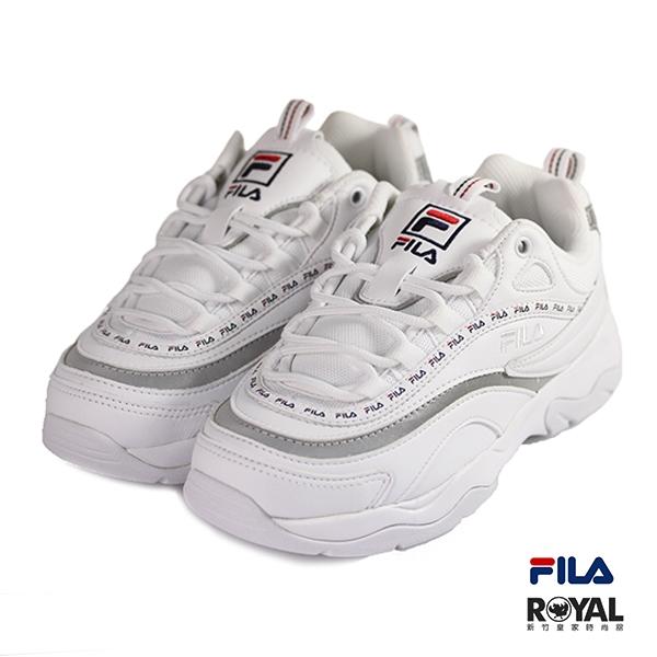 FILA 新竹皇家 Filary tapey 白色 小LOGO 皮質 休閒鞋 女款 No.I9151