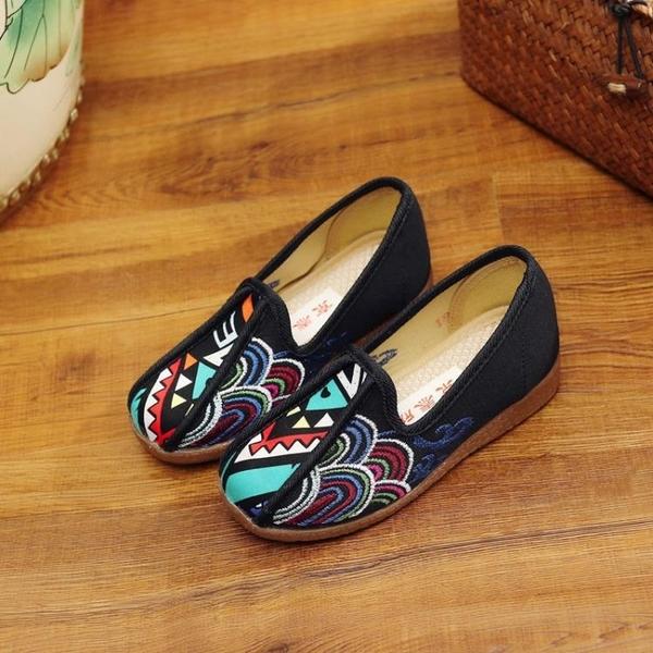 降價兩天 傳統老北京男童透氣布鞋寶寶鞋布刺繡花鞋祥云復古牛筋底表演出鞋