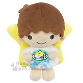 〔小禮堂〕雙子星KIKI 絨毛玩偶娃娃《XS.黃棕.食物裝飾牌》擺飾.玩具 4901610-59828