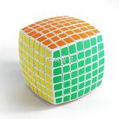 兒童魔方 七階魔方面包形魔方智力玩具兒童學生比賽專用魔方減壓玩具 珍妮寶貝