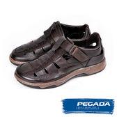 【PEGADA】巴西名品真皮休閒鞋/涼鞋  咖啡(132261-BR)