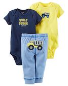 【美國Carter's】套裝三件組-小小工具車短袖包屁衣+長褲 #126G814