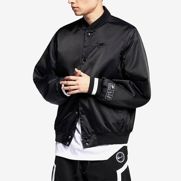 秋冬服飾 Nike Air Jacket  黑紅 背後大LOGO 棒球外套 男 (布魯克林) 2019/1月 AR1838-010