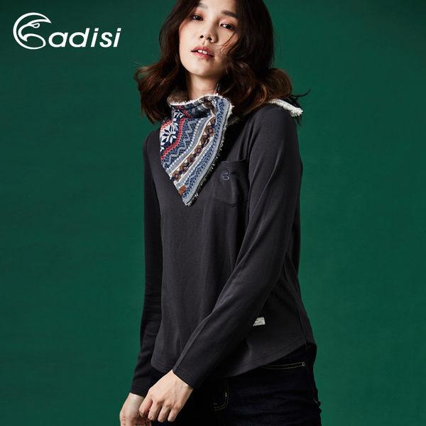 ADISI 女混紡羊毛保暖速乾圓領長袖上衣AL1721074 (S-2XL) / 城市綠洲專賣 (輕薄柔軟、排汗、美麗諾)