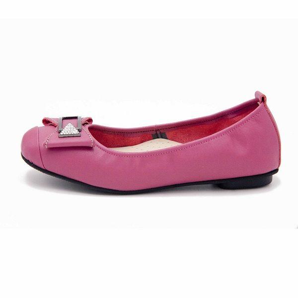 W&M 迷人金屬扣水鑽素色女鞋-桃(另有黑)