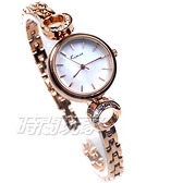 Kimio金米歐 月光下 優雅鑲鑽 氣質手鍊 腕錶 防水手錶 手鍊錶 細手環 女錶 K6208玫