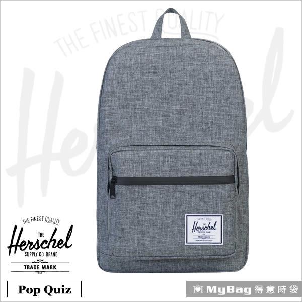 Herschel 後背包 灰色 防水拉鍊 平板/15吋電腦後背包 Pop Quiz-919 MyBag得意時袋