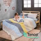 #HT022#絲柔親膚奧地利TENCEL天絲3.5尺單人床包+枕套+雙人舖棉兩用被三件組-台灣製(限2組超取)