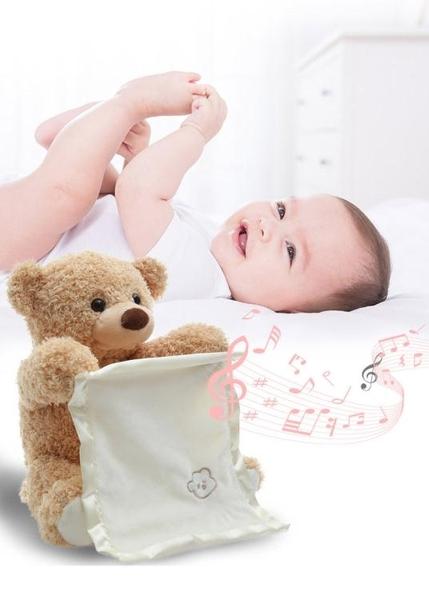 躲小熊貓貓玩具熊聖誕節禮物寶寶嬰兒毛絨女孩會學說話的抖音同款 童趣屋  新品