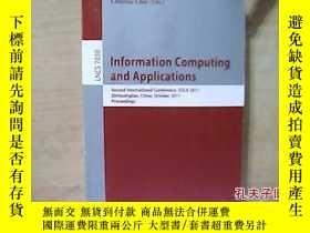 二手書博民逛書店Information罕見Computing and Appli
