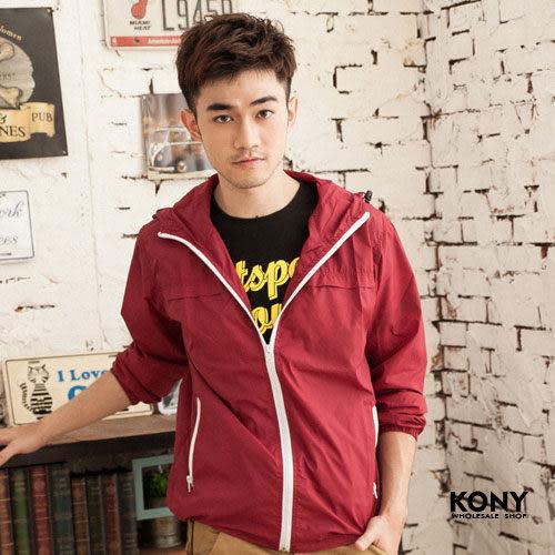 KONY【NN8733】《2013 S/S 春夏時尚 亮面連帽風衣薄款外套》可搭單寧牛仔褲 499 ↘299