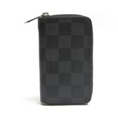 LOUIS VUITTON LV 路易威登 黑棋盤格ㄇ拉鍊零錢包 M63076  【BRAND OFF】